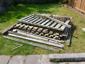 fence panels and assorted wood