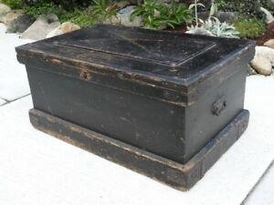 ANTIQUE TRUNK, CHEST, 1880s VINTAGE