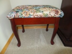 "FOR SALE Cloth covered padded Stool – 20""x13.5""x16"" high like ne"