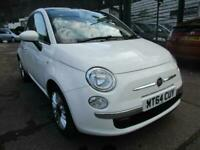 2014 FIAT 500 1.2 LOUNGE S/S , VERY LOW MILES , GLASS ROOF