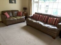 Stunning soft Italian Leather 3 seater & 2 seater sofa