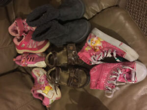 Girls size 8 Lot shoes/boots