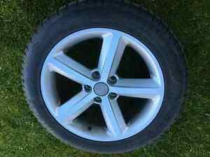 Audi original rims and winter tired