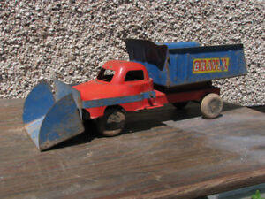 1950's pressed steel toy gravel truck