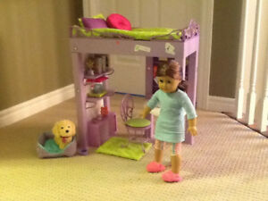 American Girl Doll and Bed Set