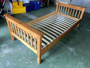 Solid wood IKEA twin bed frame (old style)