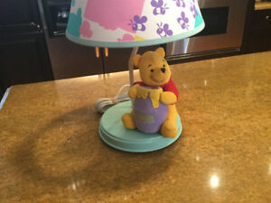 Winnie the Pooh Children's Plush Nursery Lamp