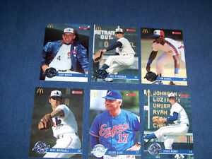 LOT OF 6 BASEBALL CARDS-MONTREAL EXPOS-TIM RAINES+ 1993-DONRUSS