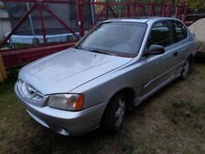 2001 Hyundai Accent Coupe (2 door)