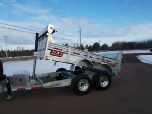 New 2018 N&N 6' x 10' Galvanized Dump Trailer