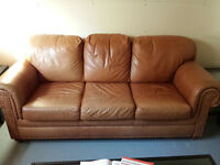 Leather Couch - 2 pieces or seperate