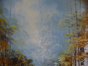 """Forest Sanctuary, Landscape by Paul Cho """"Woodland Stream"""" 1970's Stratford Kitchener Area image 6"""
