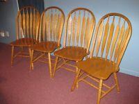Chaises (6) de salle à manger