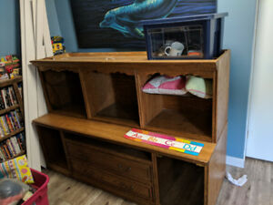 Hardwood entertainment/wall unit