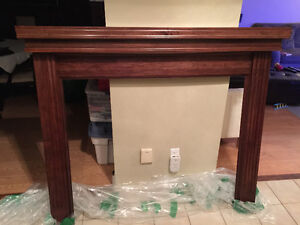 Maple fireplace mantle