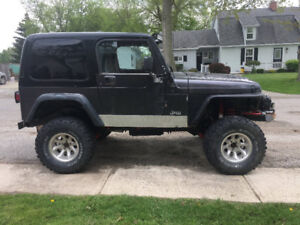 1999 Jeep Wrangler with parts jeep and tones of parts