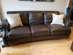 Sofa loveseat couch Natuzzi cuir 100% / Leather