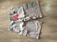 Brand new Mens animal khaki shorts