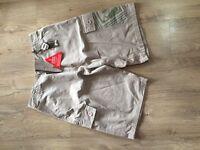 Brand new Mens animal khaki shorts