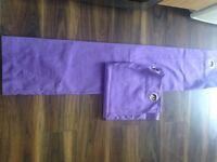 """Purple eyelet curtains 54"""" drop in excellent condition"""
