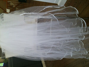Satin Bridal Gown with One Shoulder Bodice