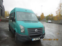 VOLKSWAGAN CRAFTER MINIBUS WITH WHEELCHAIR ACCESS £10450