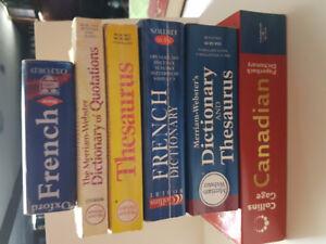 Various Dictionaries and Thesaurus [Read description]