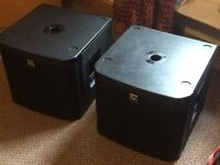 EV ZXa1 powered 12 inch subs pair full working order