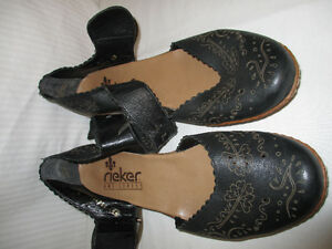 Rieker Anti Stress Leather Shoe, Mary Jane Style, size 39, 8-8.5