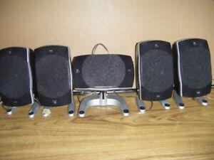 5 Logitech Speakers for sale       .