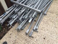 Galvanised pipes metal scaffolding market stand tent as in pictures. Delivery