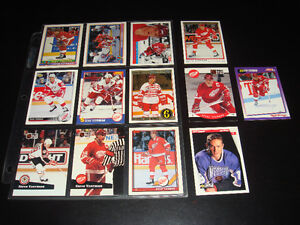 13X STEVE YZERMAN-NHL HOCKEY-COLLECTION-CARTES/CARDS