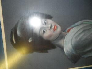 Japanese Geisha by M Hall Original $200. Not a print. Prince George British Columbia image 4