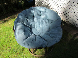 Papasan Chair Blue