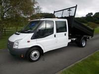 FORD TRANSIT 350 100PS CREW CAB TIPPER 13 REG 59,500 MILES SIX SPEED