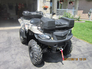 2013 SUZUKI KINGQUAD 4X4  500 EFI LOW KM WITH POWER STEERING