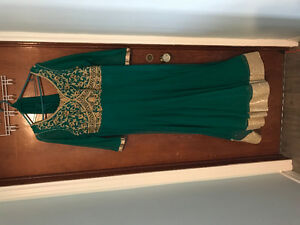 Beautiful emerald green gown for sale