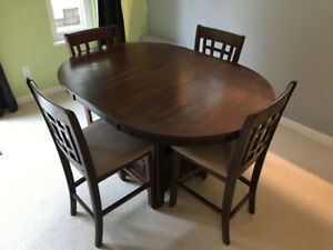 Dining Table and 4 Chairs Round or Oval (Counter Height)