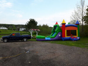 BOUNCY CASTLE with wet or dry water slide