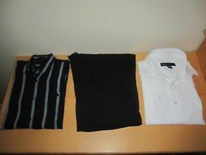 Boy's Pants with Adjustable Waist & Two Dressy Shirts, QTY = 3