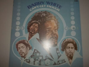 "12"" vinyl record Can't Get Enough by Barry White album 1974 RCA"