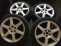 17 INCH ALLOYS WITH LOW PROFILE TYRES