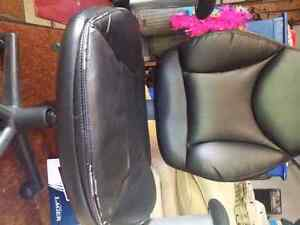 Leather office chair..with tilt and hydraulics
