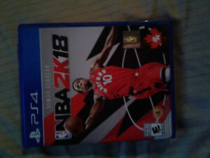 Nba 2k18 for ps4 like new $30