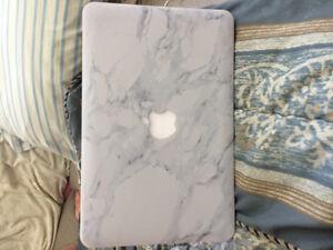 "Macbook Air 11"" white marble cover"