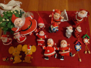 Vintage Christmas Decorations: Includes Flocked Santas & More!