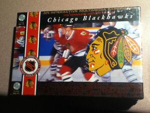Chicago Blackhawks NHL Hockey CD-ROM Interactive Box Set