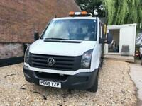2015 Volkswagen Crafter 2.0 TDI 136PS Chassis Cab Manual White DropSide Reverse
