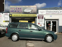 2002 VAUXHALL ASTRA 1.6i CLUB ESTATE ( AA ) WARRANTED INCLUDED