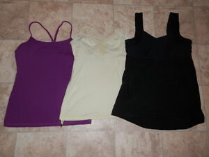 Sleeveless tops by Lululemon (sizes 2-10)